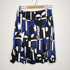 Lauren Ralph Lauren Petite Silk Skirt Geometric